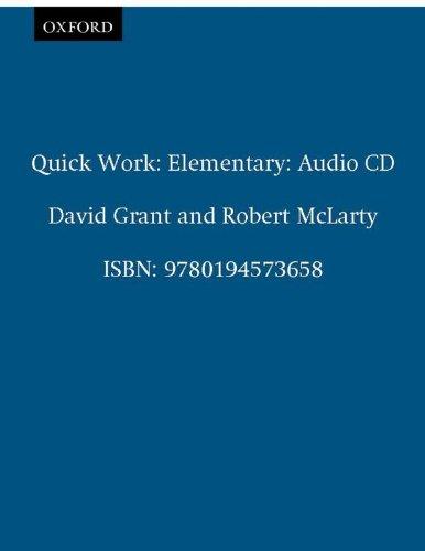 Quick Work Elementary: Audio CD