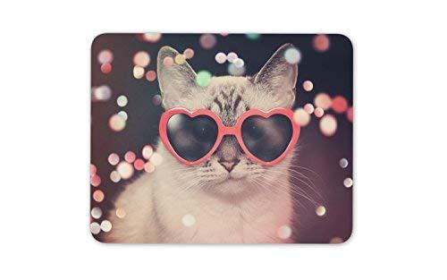 Nette Disco Katze Mauspad Pad - Katzen Kitten Sonnenbrille Spaß-Geschenk PC Computer # 8473