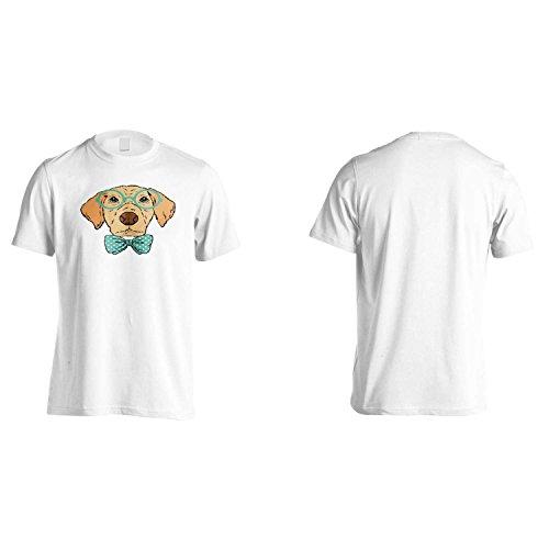 Cane intelligente con l'arco e gli occhiali Uomo T-shirt o75m White