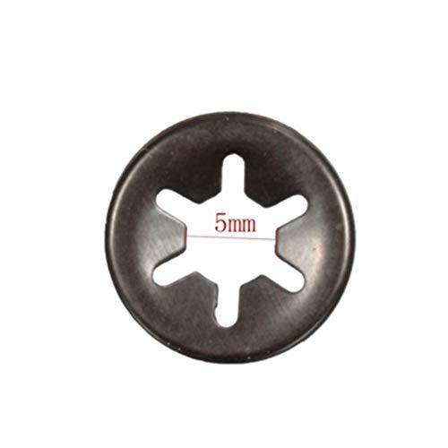 Preisvergleich Produktbild JenNiFer 3Mm 4Mm 5Mm 6Mm Plum Clamp Flange Shaft Positionierung Meson Push On Fasteners Locking Speed Clips - 5Mm