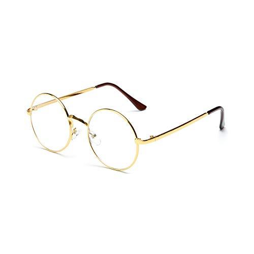 YUHANGH Klassische Schwarze Vintage Runde Klare Brille Frauen Männer Retro Transparente Brille Rahmen Klare Linse Brille Kreis Brille