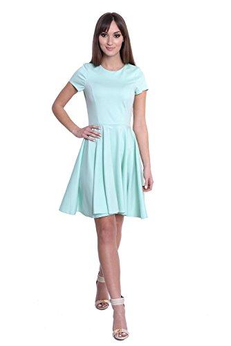 Kleid Klassisches Minikleid Glockenform Gr. XS S M L, 10007 Mintgrün