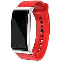 YIGIAO Smart Watch Pulsera de frecuencia cardíaca Pulso tensiómetro Reloj Deportivo Impermeable Pulsera de Fitness Inteligente