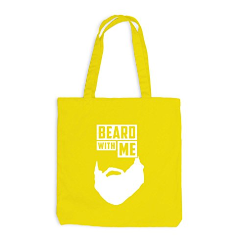 Jutebeutel - Beard with me - Bart Gelb