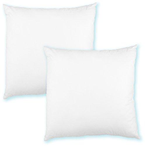 Kissenfüllung 30x30 Füllkissen Dekokissen Polyester Premium, 2er Pack