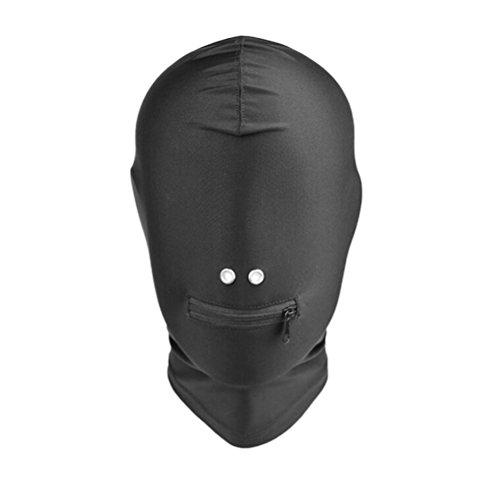 BESTOYARD Atmungsaktive Kopfmaske Schwarz Augenbinde Gesicht Abdeckung Spandex Mund offen Haube Maske Kostüme Unisex (Haut Maske Kostüm)