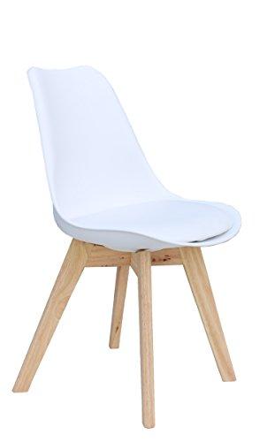 Designer Stuhl 'PARIS' Stuhl Esszimmerstuhl Küchenstuhl Bürostuhl weiß 221060