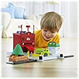 Fisher Price Rollers Roll 'n' Go Firestation Set by Fisher-Price