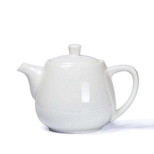 Théières Porcelaine Théière En Céramique Théière En Céramique À Un Pot En Céramique Blanche Moderne Avec Théière En Porcelaine Blanche Chinoise Avec Filtre, 900 Ml