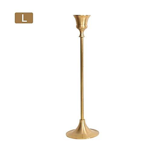 Belukies Kerzenhalter für Hochzeitsleuchter für den Außenbereich Shabby Chic Iron Vintage für Feuerstellen (schwarz und gold), gold - Poliert Eisen Kamin