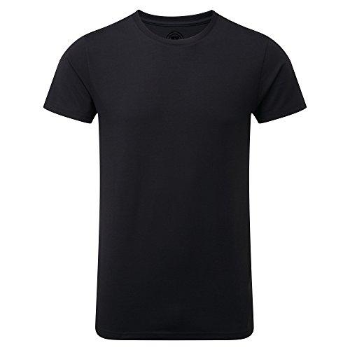 Russell Herren Slim Fit T-Shirt, kurzärmlig Schwarz