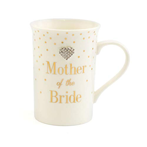 Mother of the Bride Fine China Mug. Special Keepsake Gift. Mad Dots Range