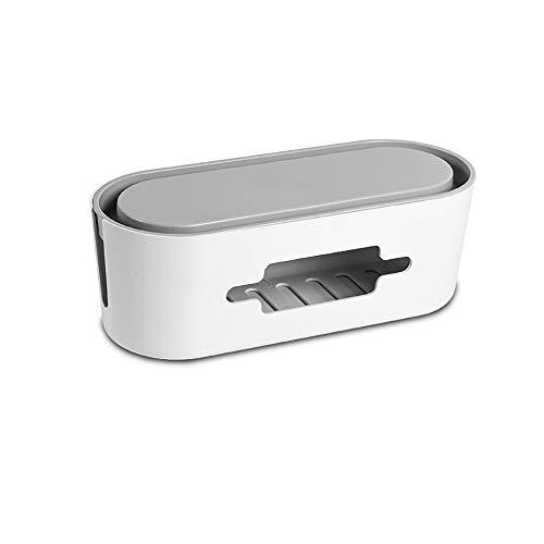 DWhui Plastik-Desktop-Stromversorgungs-Steckdose Sicherheits-Schutzdaten Kabel-Kabel Kopfhörer-Aufbewahrungs-Veranstalter Veranstalter