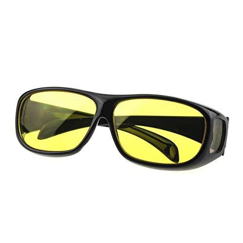 Vektenxi Unisex HD Night Vision Driving Sonnenbrille Gelbes Objektiv Über Wrap Around Brille Langlebig und praktisch
