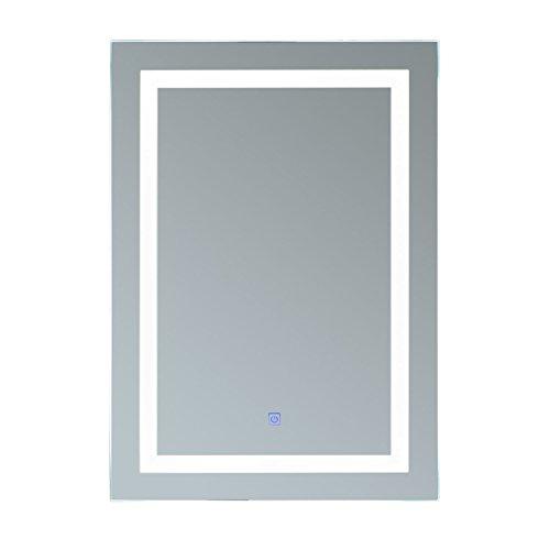 Homcom® Lichtspiegel LED Spiegel Badspiegel Badezimmerspiegel Wandspiegel (Modell1/50 x 70 x 4cm)