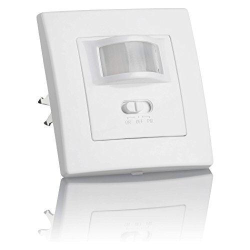 SEBSON® Bewegungsmelder Innen Unterputz, LED geeignet, Wand Montage, IR Sensor programmierbar, UP Dosen 60mm, Hohlraumdose 68mm, Reichweite 9m/160°