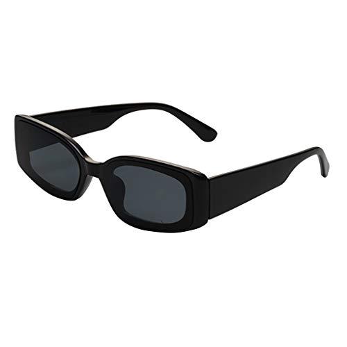 WooCo Rechteckige Sonnenbrille Polarized für Männer Frauen Vintage, Herren Damen Sonnenbrille...