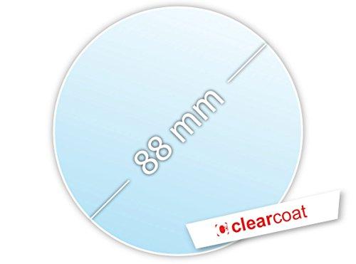 .drivezero. Clearcoat Transparente Trägerfolie 88 mm für Umweltplakette/Feinstaubplakette