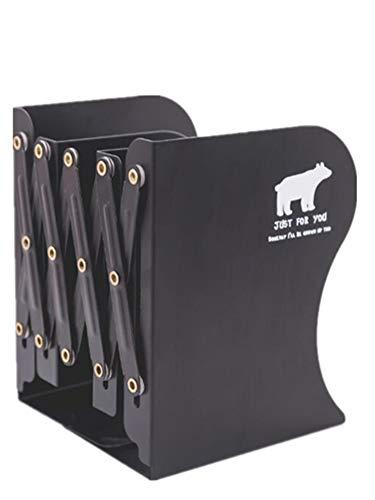 Sodhue Buchstützen Dehnbare Buchstützen aus Metall Dauerhaft Einziehbar stehend Bücherregal Bücherregal Metall Desktop Aufbewahrungsbox für Bücher Magazine Halter Ständer stabil(190 * 160 * 200mm) -