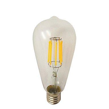 CHUCHEN 8W E26/E27 Lampadine LED a incandescenza ST64 8 COB 780 lm Bianco caldo Intensità regolabile AC 220-240 V 1 pezzo