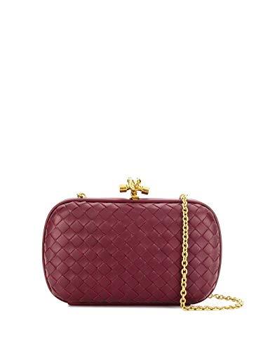Bottega Veneta Handtasche (Bottega Veneta Luxury Fashion Damen 498478VO0BG6209 Bordeauxrot Clutch   Herbst Winter 19)
