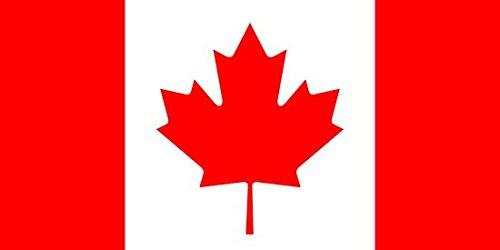x 3ft groß–100% Polyester–Metall Ösen–doppelt genäht (3x5 Kanada Flagge)