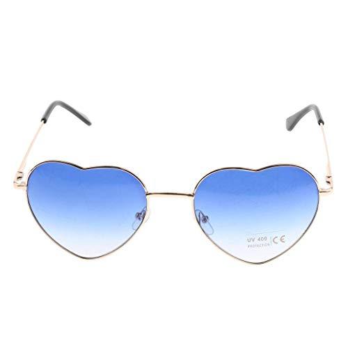 RMXMY Mode Persönlichkeit herzförmigen pfirsichförmigen Farbverlauf transparent Ozean Stück Sonnenbrille Sonnenbrille (Color : Blue)