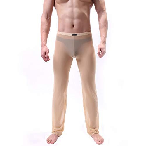 Setsail Herren durchsichtig Mesh Lange Hosen Unterhose Schiere Hose weiche dünne Mesh Dessous erotisch Unterhose - Mens Seamless Bikini-unterwäsche