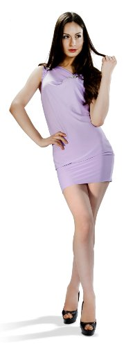 Cluty vestito - astuccio - donna violett s