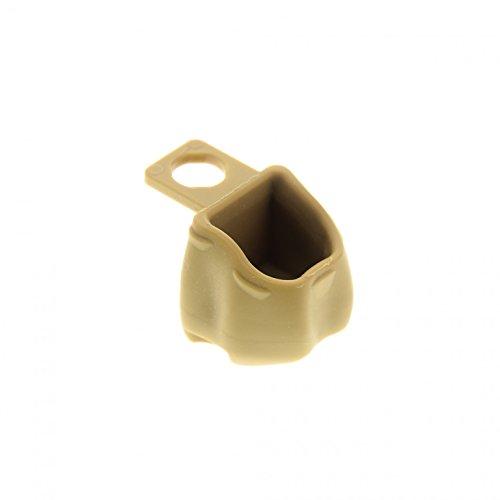 1 x Lego System Figur Zubehör Rucksack offen dunkel beige tan Backpack für Set 7958 92590 -