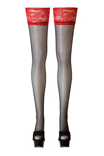 Cottelli Collection 25204943631 Halterlose Strümpfe 4, L, schwarz