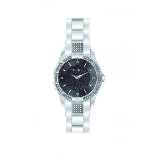 Thierry Mugler - 4722701 - Montre Femme - Quartz Analogique - Cadran Argent - Bracelet Métal Argent