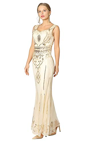 Metme Flapper Dress Costume, Gatsby 1920s Flapper Dress, used for sale  Delivered anywhere in UK