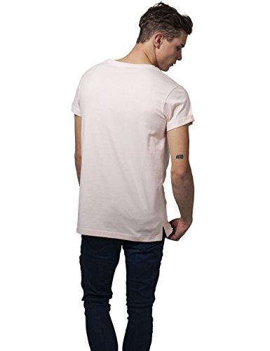 Urban Classics Herren T-Shirt Turnup Tee Rosa (pink 185)