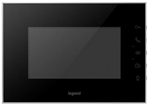 Legrand, Video-Innenstelle mit 7 Zoll Hochglanz-Farbbildschirm zur Erweiterung des 7 Zoll Videokits (369220) zum 2-Familienhaus, 369225