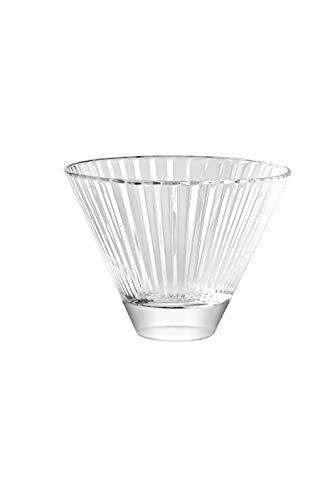 Martini-Gläser, ohne Stiel, 6-325 ml Barski - europäische Qualität - Stemless Cocktail - Martinis - mit vertikalen Linien, 325 ml, hergestellt in Europa