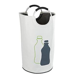 Wenko Flaschensammler Jumbo Fassungsvermögen 69 L, Polyester, Beige, 38 x 38 x 72 cm