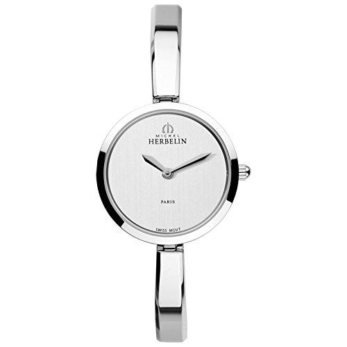 Michel Herbelin Classic Reloj de mujer cuarzo 26.5mm correa de acero 17401/B02