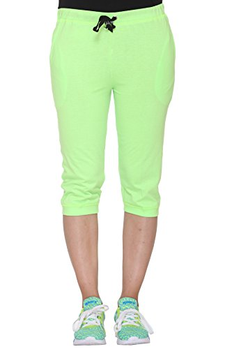 Vimal Multicolor Cotton Blended Capris For Women(pack Of 2)