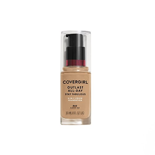 Covergirl Outlast Stay Fabulous 3-in-1 Foundation, Classic Tan 860 by CoverGirl [Beauty] (English Manual)