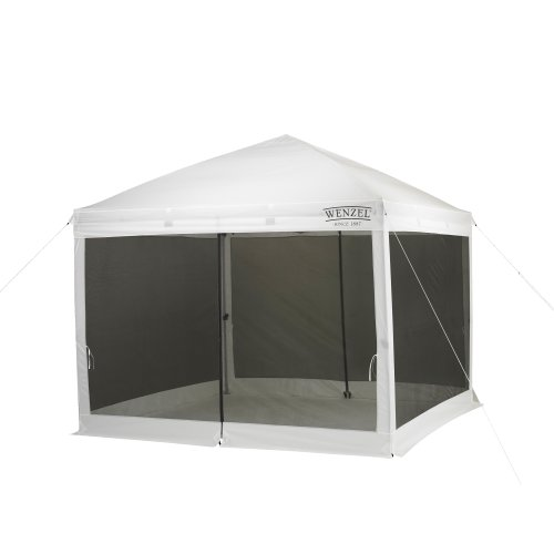31xoMiAU%2BHL. SS500  - Wenzel Water Repellent Smartshade Unisex Outdoor Screen House Tent available in White - 10 feet