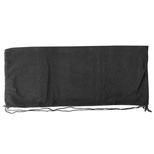 LIOOBO Velvet Bag Long verschleißfesten Schmuck Beutel Kordelzug Taschen für Tennisschläger Tuch Schuhe (schwarz)
