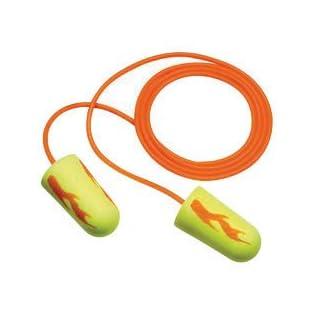 3M 311–1257Einmalhandschuhe e-a-rsoft gelb Neons regenfällen konisch Polyurethan-Schaumstoff mit Ohrstöpsel mit Vinyl Kordel (1Paar pro Polybeutel, 100Paar pro Box) (100/PR)