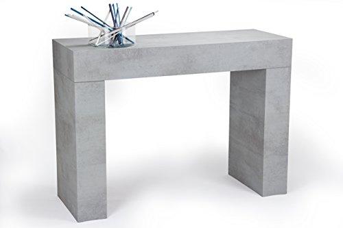 Mobilifiver evolution consolle ingresso, legno, grigio, 110x40x80 cm