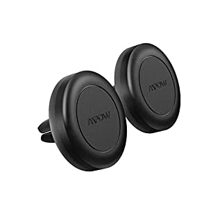Mpow Air Vent Magnetic Car Phone Mount, Cell Phone Holder for iPhone 7/6S/6 Plus/5S/5,Google Pixel/Pixel XL/Nexus 6/6P, LG,HTC, Huawei, Black [2 PACK]
