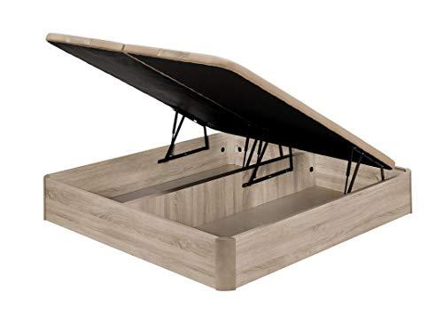 Santino Canapé Abatible Wooden Gran Capacidad Blanco 180x200 cm con Montaje a Domicilio Gratis
