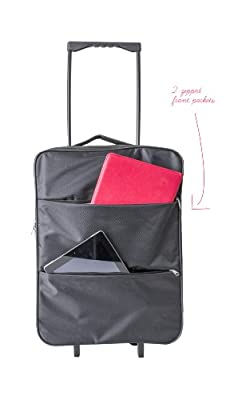 Cabin Max Stockholm Worlds Lightest Cabin Approved Trolley Bag -Ripstop 1.45kg 55x40x20cm 44l capacity