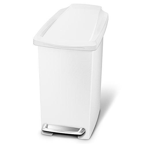 Simplehuman Cubo Estrecho 10 L Blanco