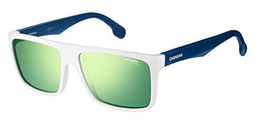 Carrera Unisex-Erwachsene 5039/S Z9 Sonnenbrille, Weiß (Whitebluesmbl/Green Multilaye), 58
