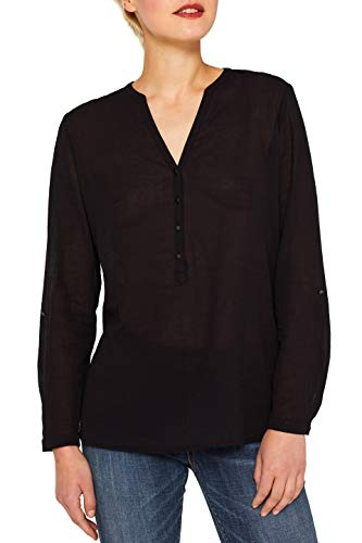 ESPRIT Damen 079Ee1F010 Bluse, Schwarz (Black 001), (Herstellergröße: 36)
